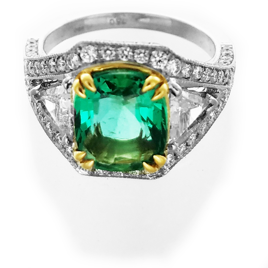 Emerald Diamond Fancy Ring