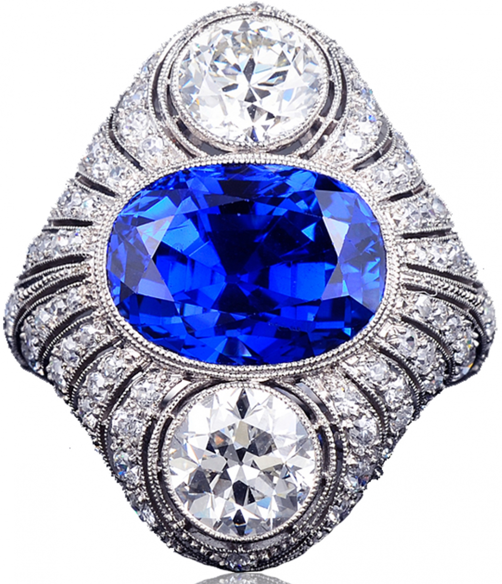 diamond platinum west beach palm sapphire ring burma and