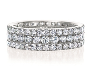 3 Row Diamond Band