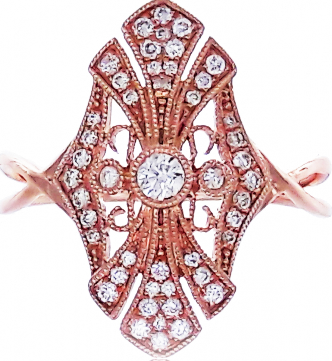 Rose Gold Diamond Filigree