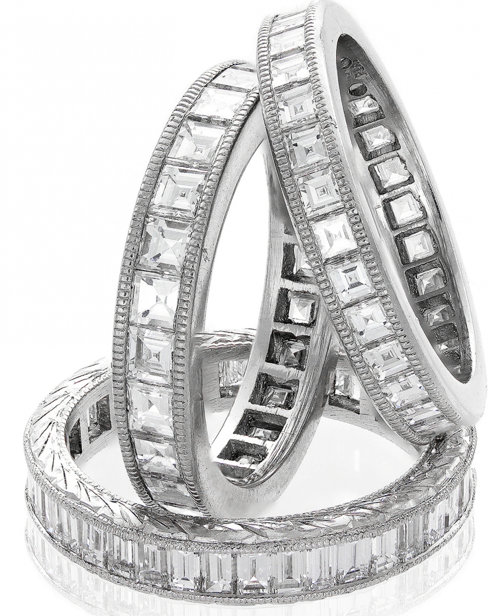 Carre Eternity Rings