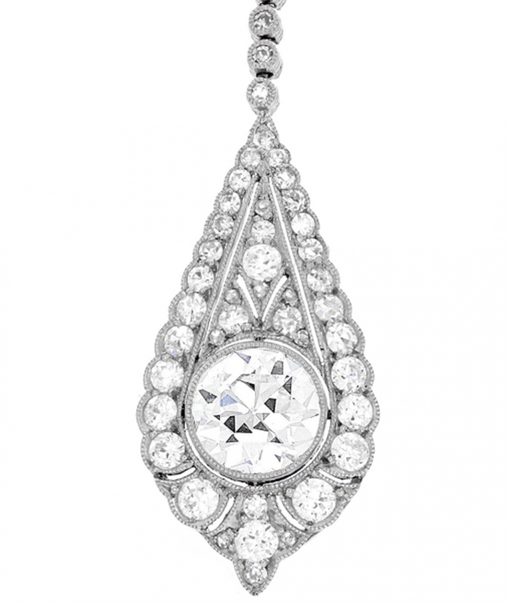 Art Deco Diamond Drop