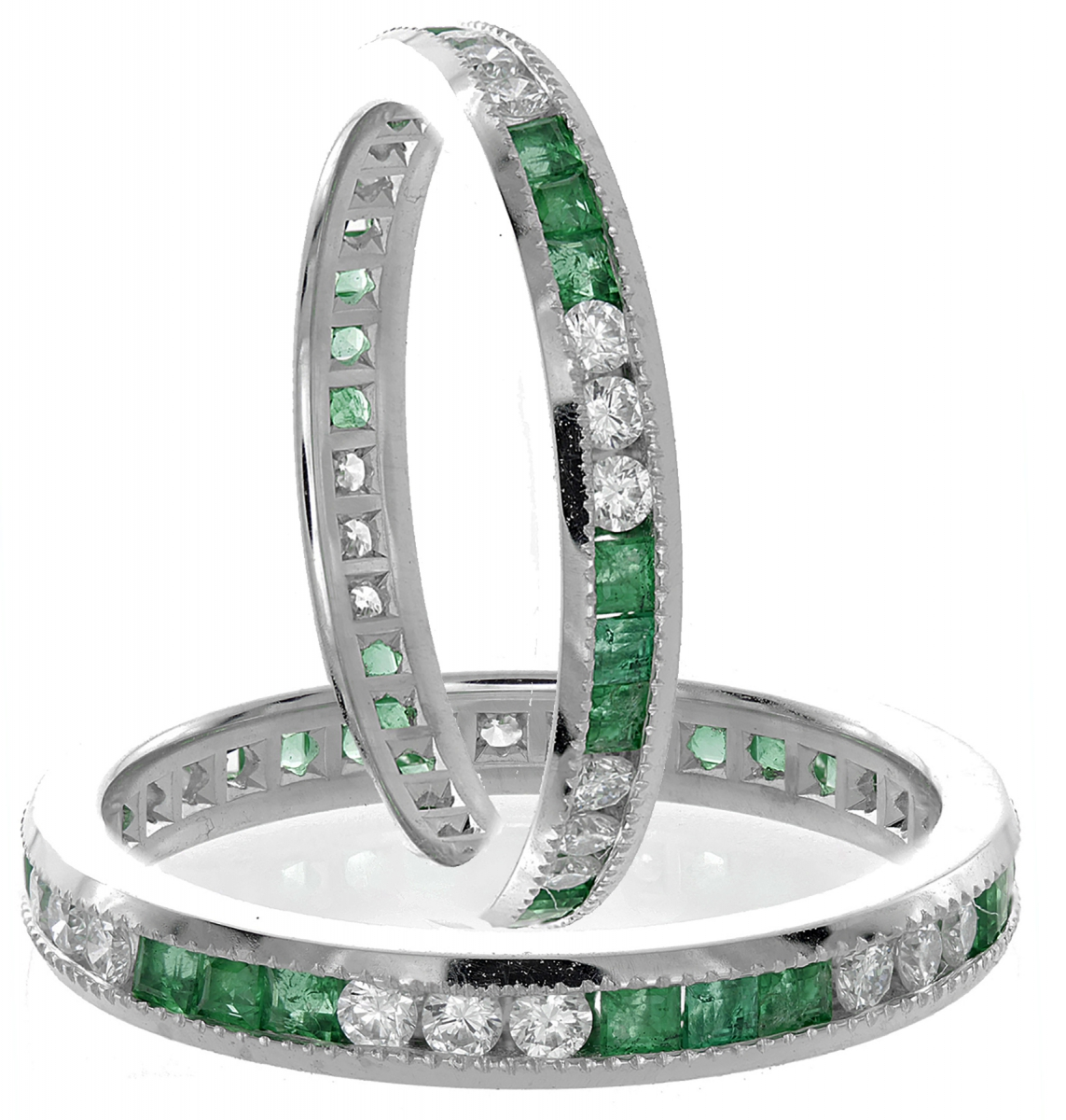 Emerald & Diamond Eternity Ring