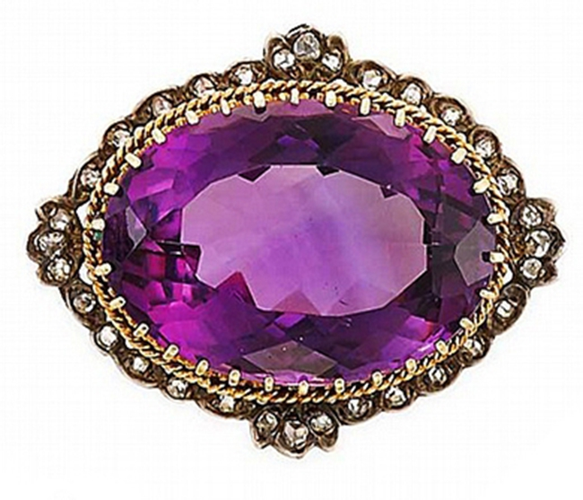 Antique Amethyst & Diamonds